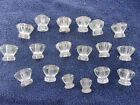 Mixed Lot 18 Old Glass Furniture Pulls Knobs Drawer Door Cabinet