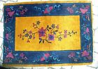 Antique Vintage Small Gold Art Deco Chinese Nichols Oriental Rug No Reserve