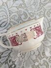 Homer Laughlin Coffee Creamer Vintage Red Gold Trim