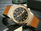 Mens Automatic Watch Leather band paulies p Gold Rose Gold High Quality