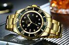 Mens Automatic Watch Stainless submariner deep sea goldDiver