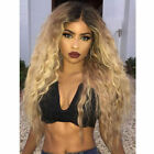 ATOZ Wig Long Kinky Curly Long Ombre Blonde Black Red Wigs Synthetic For Women