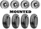 Kit 4 CST Lobo Tires 28x10-14 on ITP SD Beadlock Polished Wheels 1KXP