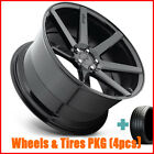 4New 20 Staggered Niche M168 Verona Black Wheels and Tires