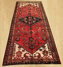 Distressed Hand Knotted Vintage Persian Hamadan Wool Area Runner 9 x 3 FT (8295)