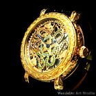 ZENITH Vintage Men's Wristwatch Gold Skeleton Mechanical Mens Wrist Watch Swiss