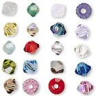 6 Swarovski Crystal 3mm Xilion Faceted Bicone Double Cone Beads W Facets L Z