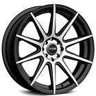 4 set 16 NS Wheels Tunner NS1501 Black Machined Rims