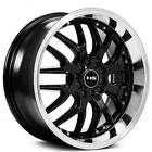 4 set 17 NS Wheels Tunner NS9002 Black with Machined Lip Rims