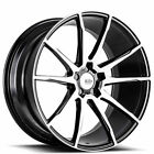 QTY4 19 Staggered Savini Wheels Black Di Forza BM12 Machined Rims CA