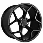 QTY4 20 Staggered Stance Wheels SF06 Satin Black Rims CA
