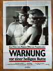 RAINER WERNER FASSBINDER German 1 sh poster Beware of a Holy Whore CONSTANTINE