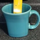 Homer Laughlin Fiesta Peacock / Turquoise Square Mug ~~~ Retired