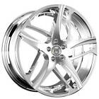 QTY4 22 Staggered Lexani Wheels Bavaria Chrome Rims CA