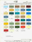 1972 FORD PICKUP TRUCK F 100 F 250 F 350 BRONCO ECONOLINE PAINT CHIP SHEET PPG