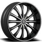 QTY4 20 Velocity Wheels VW15 Black Machined Rims CA