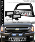Matte Blk Bull Bar Guardskid36w Cree Led Light For 07-10 Silveradosierra 2500