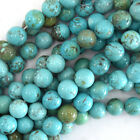 Blue Turquoise Round Beads Gemstone 155 Strand 4mm 6mm 8mm 10mm 12mm