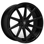 QTY4 22 Staggered Lexani Wheels CSS 15 Gloss Black Rims NIB