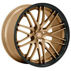4pcs 22 Staggered Lexani Wheels R Twenty Satin Bronze Center Rims NIB