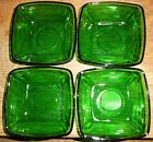 4 Anchor Hocking Forest Green Charm Square  4-1/4