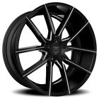 4New 20 Lexani Wheels Gravity Black W CNC Accents Rims NIB
