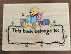 All Night Media Disneys Winnie The Pooh Rubber Stamp Hunny Bee Bookplate NEW