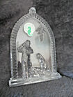 WATERFORD NATIVITY SCENE Crystal Ornament w label Ireland SR