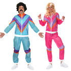 Mens Ladies 80s Shell Suit Fancy Dress Costume Scouser Tracksuit Womens Couples
