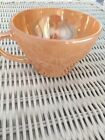 Anchor Hocking Fire King Demitasse Tea Cup Peach Lustre
