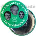 1976 Carter Mondale Carroll Kentucky Trigate Green Campaign Pin Pinback Button