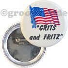 Grits and Fritz President Jimmy Carter Mondale 1976 Campaign Pin Pinback Button