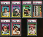 1975 TOPPS 7 CARD LOT FRESH FROM PSA S.LYLE,F.STANLEY,A.ETCHEBARREN,CY ACOSTA