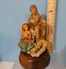 Nativity Music Box San Francisco Co Turns Silent Night 7 x 4 VTG