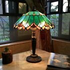 Tiffany Style 21 Tall Jade Green Stained Glass 2 Bulb Table Desk Lamp 16 Shade