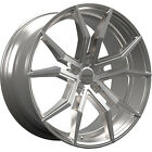 20x85 Silver Rosso Icon Wheels 5x115 +15 Fits Dodge Magnum RWD Charger