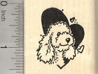 Poodle Valentine Rubber Stamp Dog in Heart E26617 WM