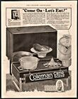 1926 COLEMAN Camp Stove w Motor Campers Manual Offer PRINT AD Vintage Camping