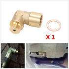 M18 X 15 Brass O2 Oxygen Sensor Extender 90 Degree Angled Bung Extension Spacer