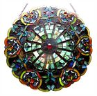 23 Round Multi Color Tiffany Style Stained Glass Victorian Design Window Panel