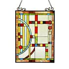 Stained Cut Glass Tiffany Style Window Panel Contemporary Design 175 x 25