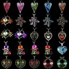 Charm Crystal Heart Flower Pendant Necklaces Sweater Chain Mothers Day Gift Hot
