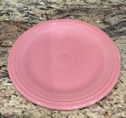 "FIESTA HOMER LAUGHLIN HLC ROSE DINNER PLATE EX USED CONDITION 10 1/2""D"