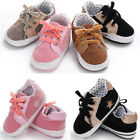 Cute Baby Boys Girl Sneakers Lace up Toddler Walk Shoes Prewalker Shoes 0 18M