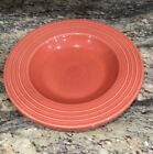"""LOT OF 2 RETIRED FIESTA HOMER LAUGHLIN HLC PERSIMMON 12""""D PASTA GUMBO BOWLS EX"""