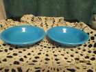 Fiesta Ware Retired PEACOCK Blue Small Fruit Bowls  6.25 ounce Set of 2  NWT