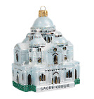 Sacre Coeur Paris France Travel Europe Glass Christmas Ornament 110175