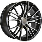 20x85 Black Machined RTX Vertex Wheels 5x45 +38 Fits Infiniti FX50 EX37
