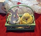 Bunny  Chick Salt  Pepper Shakers in Basket Maredy Gift Collection New in box