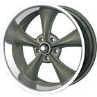 20x10 Gray Ridler Style 695 Wheels 5x475 +0 Lifted CHEVROLET S 10 PICK UP 4WD